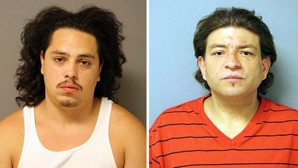 Anthony Ray Catala (left), 19, and Rafael Delagdo, 39, were arrested in connection with a garage fire that authorities labeled as arson.