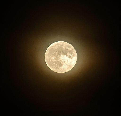 The full moon as seen from Philadelphia on June 15, 2011.
