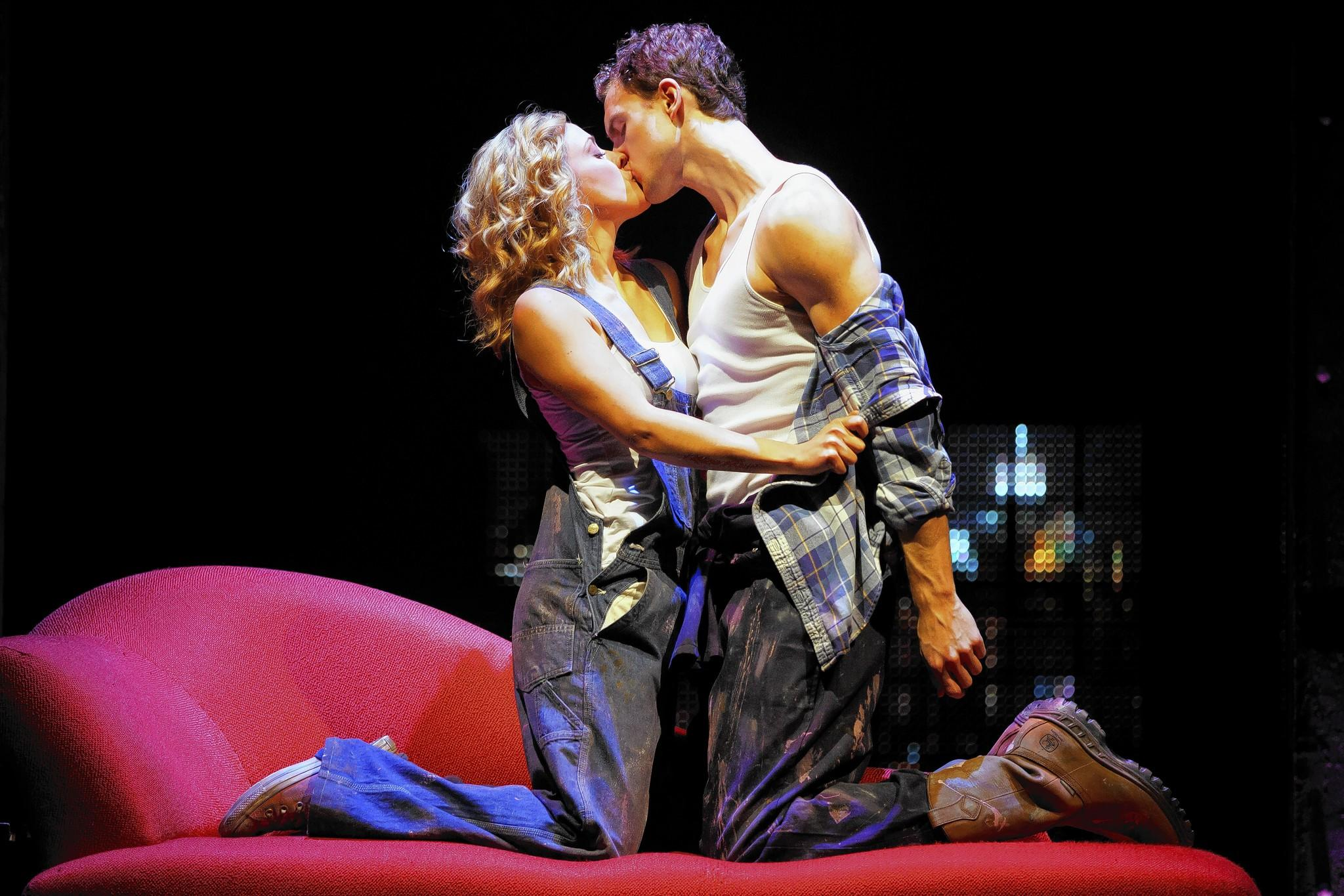 "Katie Postotnik and Steven Grant star in the touring musical ""Ghost the Musical"" at the Bushnell Center for the Performing Arts in Hartford."