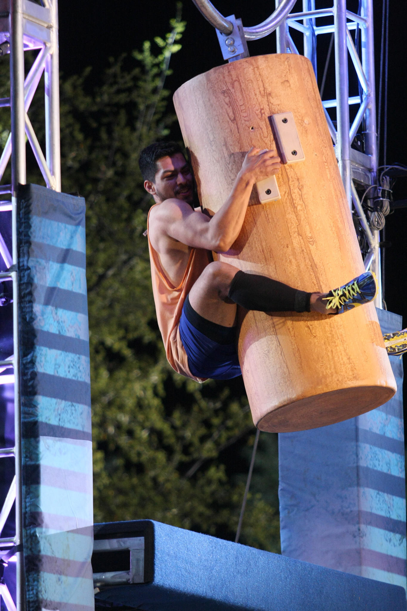 """Airing: 9 p.m. Mondays  What to expect: """"ANW"""" is multiple levels of adult-size jungle-gym-on-steriods challenges for body fat-less people. Hold on to that giant wooden cylindrical thing!  Guilty rating: 5. """"ANW"""" alternates between thrilling, hilarious (when people fall, often into water) and cheesy (certain athletes get random, weepy back stories). But let's be honest -- we all just like seeing people fall."""
