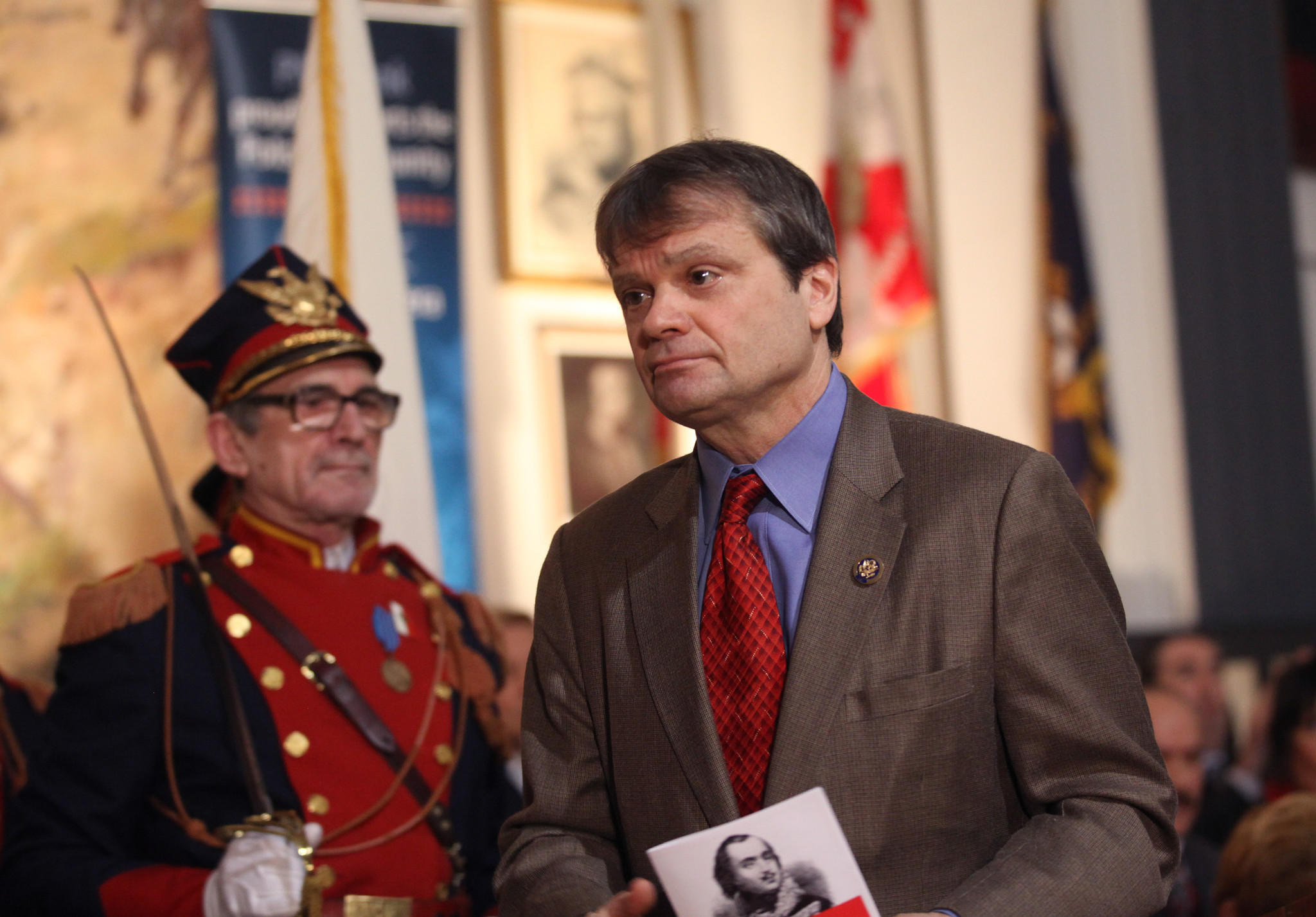Congressman Mike Quigley during Pulaski Day celebrations.