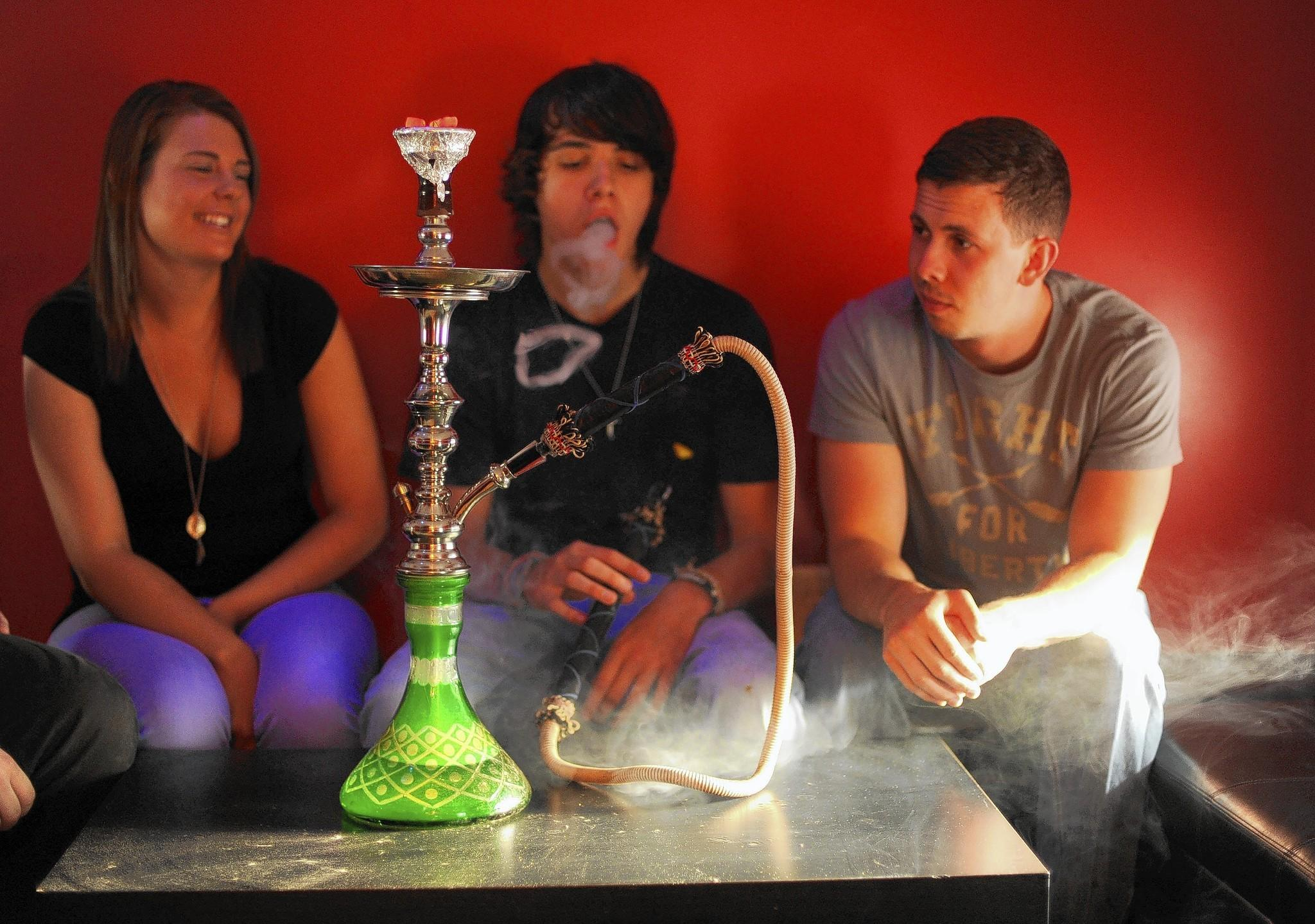 Smoking at the Ghost Lounge Hookah Bar in Ellicott City