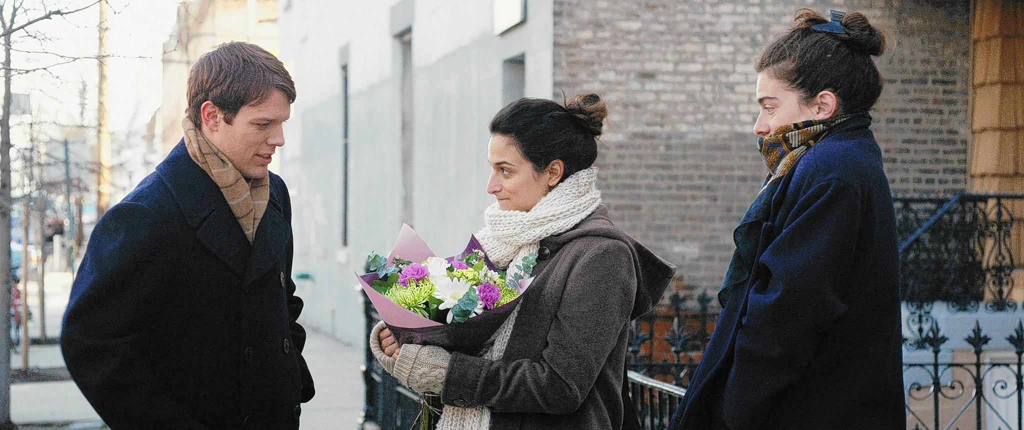 """Jack Lacy, Jenny Slate and Gaby Hoffman in """"Obvious Child."""""""