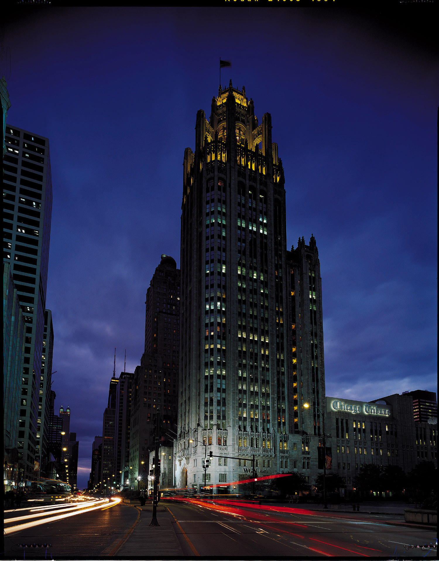 Tribune Tower, headquarters of Tribune Co. and the Chicago Tribune.