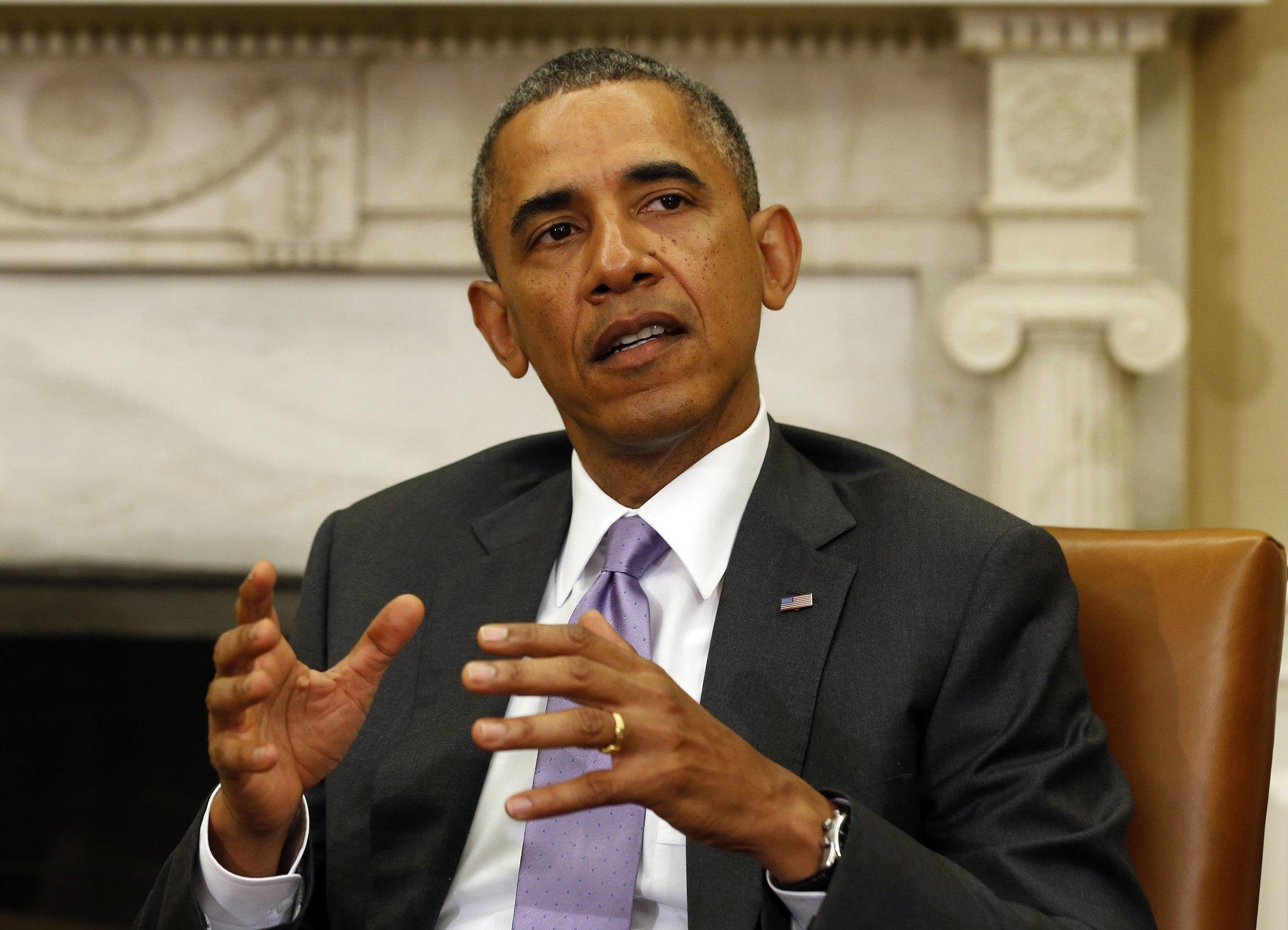 President Barack Obama speaks in the Oval Office of the White House on June 12.