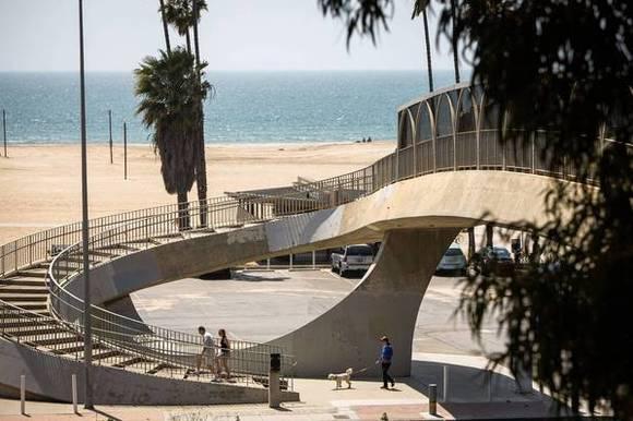 Santa Monica Beach stairway