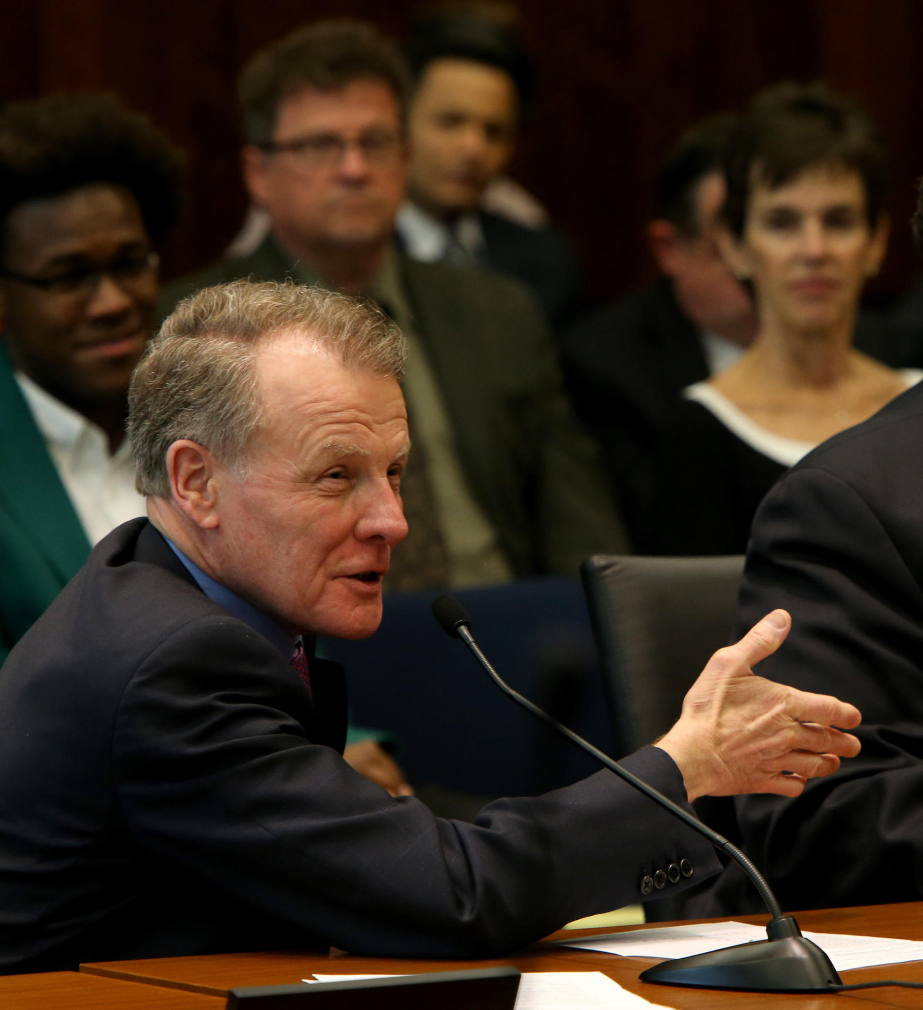 House Speaker Michael Madigan in Springfield in April.