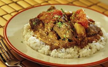 Clay Oven's spicy habanero lamb vindaloo