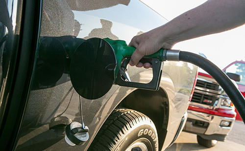 Chicago-area gas prices have climbed 18 cents in the last month.