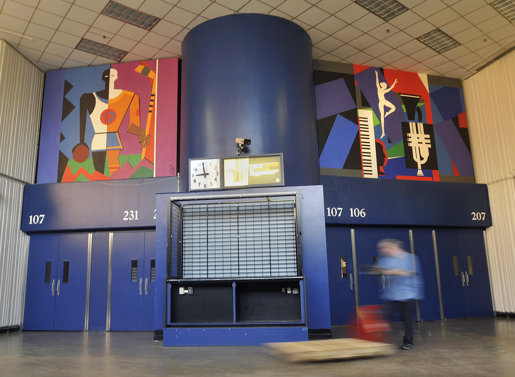 Two murals of Romare Bearden, currently housed at the XL Center, will be moved to a new location before the restoration of the building.