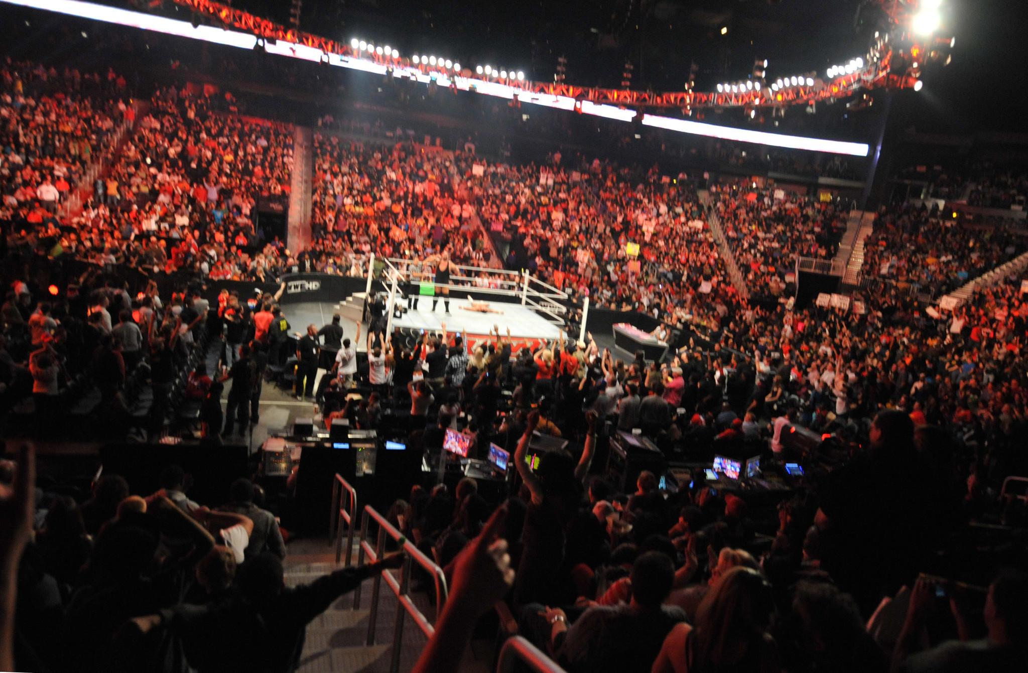 General view of the WWE Monday Night Raw Supershow in Atlanta, Georgia.