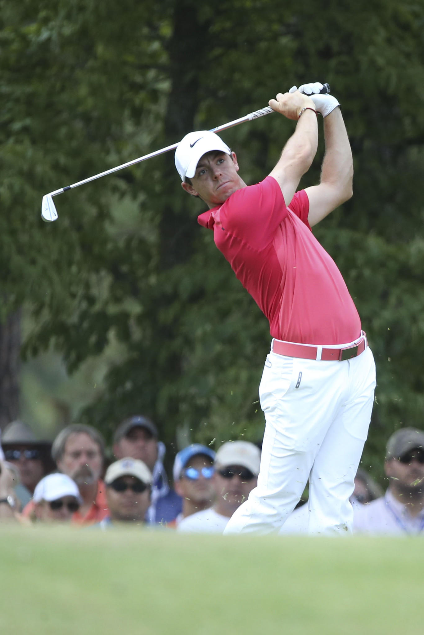 Rory McIlroy tees off the 17th hole during the second round of the 2014 U.S. Open.