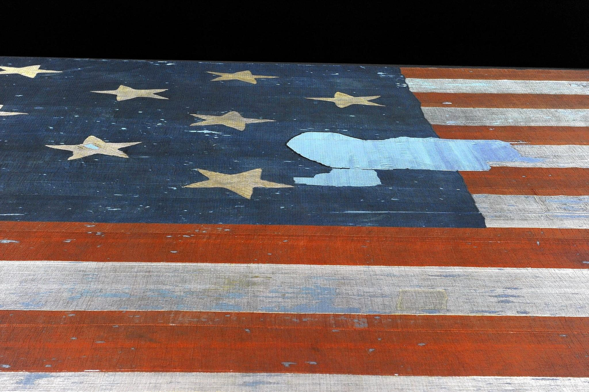 A star is missing from the flag that flew over Ft. McHenry during the bombardment of Baltimore.