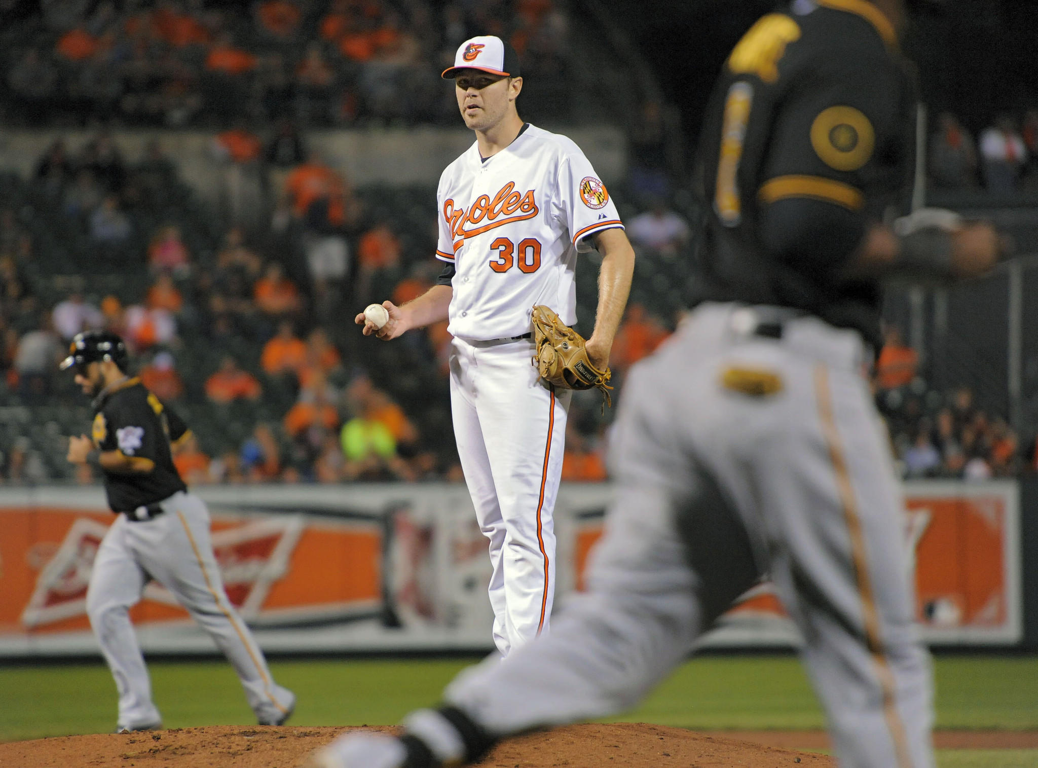 Chris Tillman, shown during a May 1 game against Pittsburgh, has yet to consistently show the form that made him an All-Star last season.
