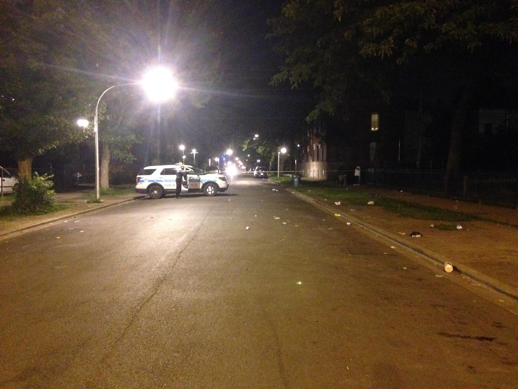 One person was shot Saturday night at 57th and Racine streets.