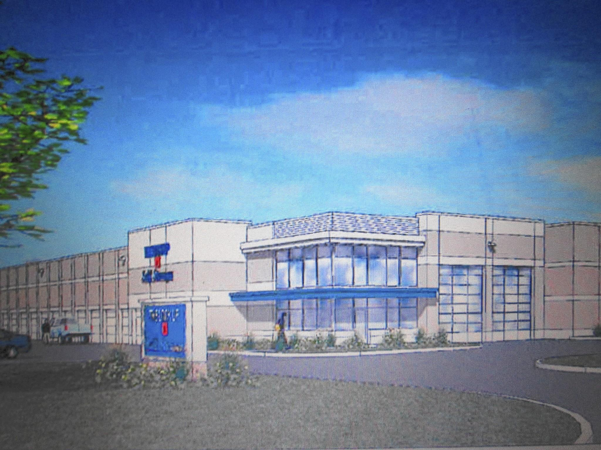 A rendering of the new self-storage facility that will be built in the 7900 block of Lemont Road.