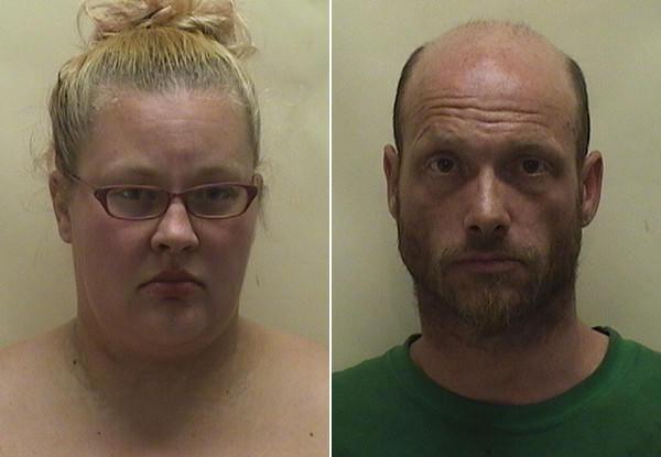 Bobbi-Jo Lamont, 26, and her boyfriend, Edward R. Salz, 37, were charged after police said Salz assaulted his son when the boy knocked over some of his marijuana. Police said Lamont screamed at and argued with officers, which caused a crowd to gather.