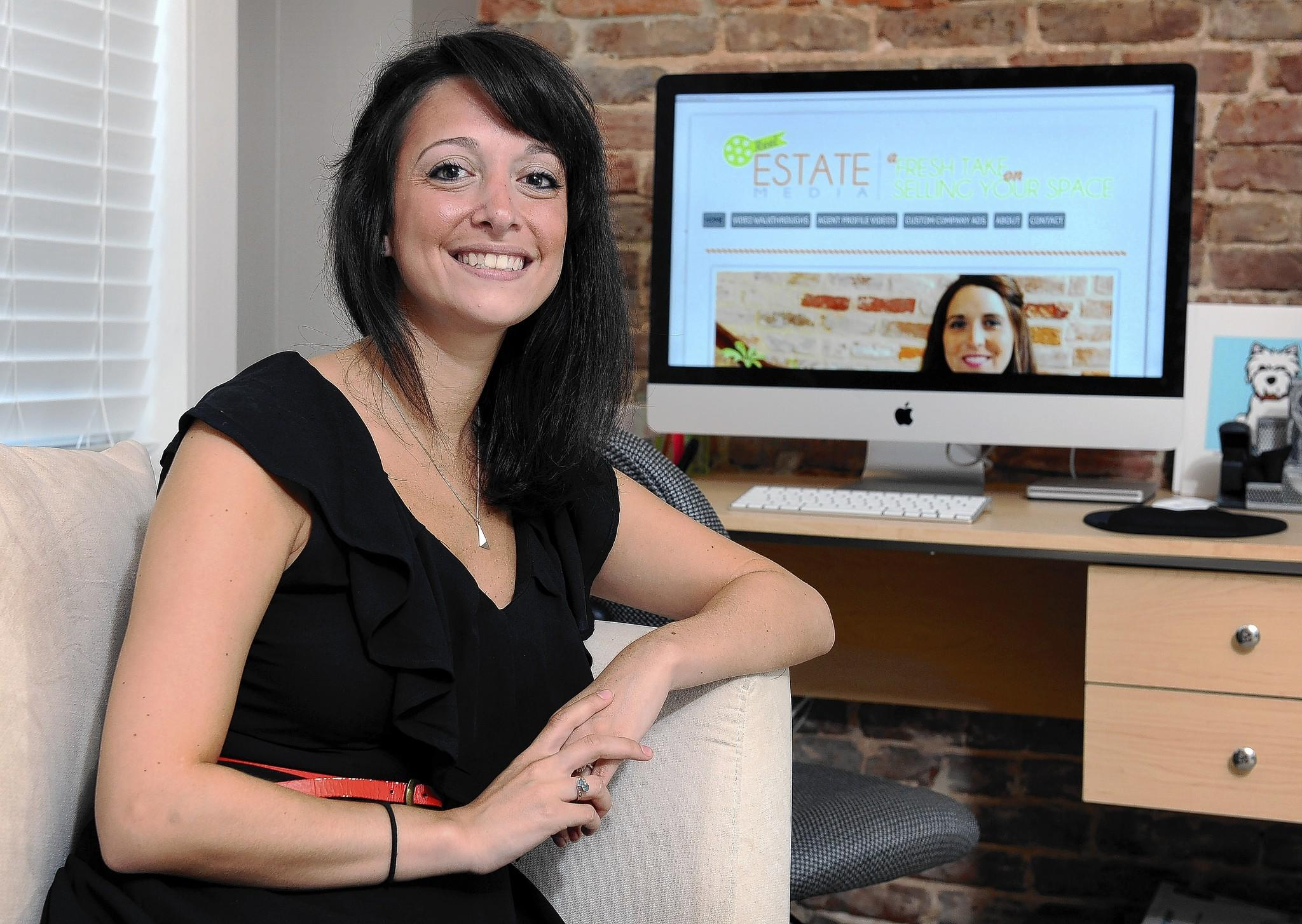 Rachel Millman, the owner and director of Reel Estate Media, at home in Canton.