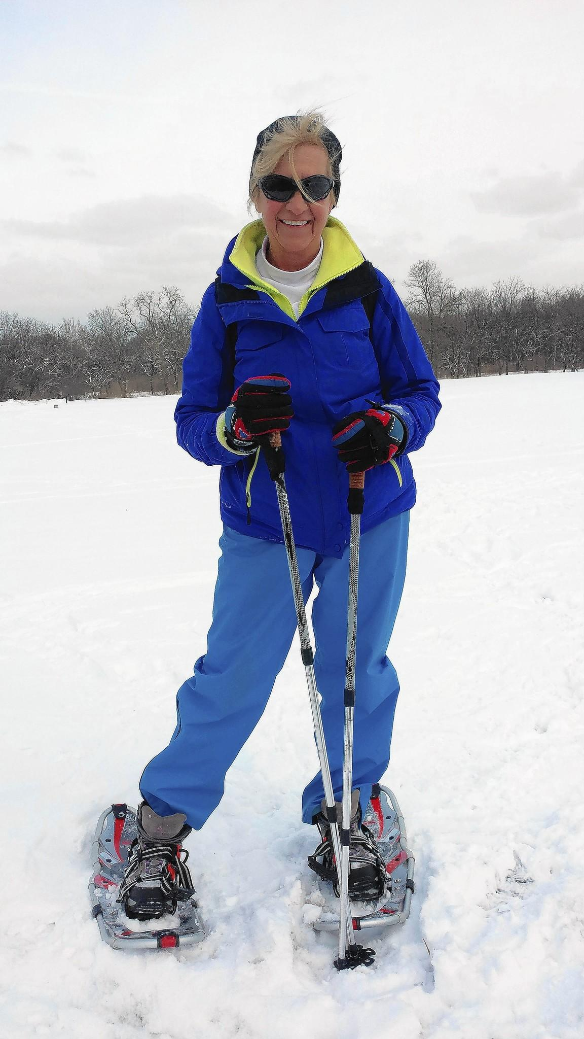 Bolingbrook resident Nancy Klimah is planning on scaling California's Mt. Shasta this week to raise money for the fight against breast cancer. She is seen here training for the climb this past winter.