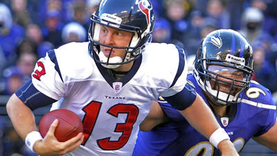 Will the Ravens pursue former Houston Texans QB T.J. Yates to b…