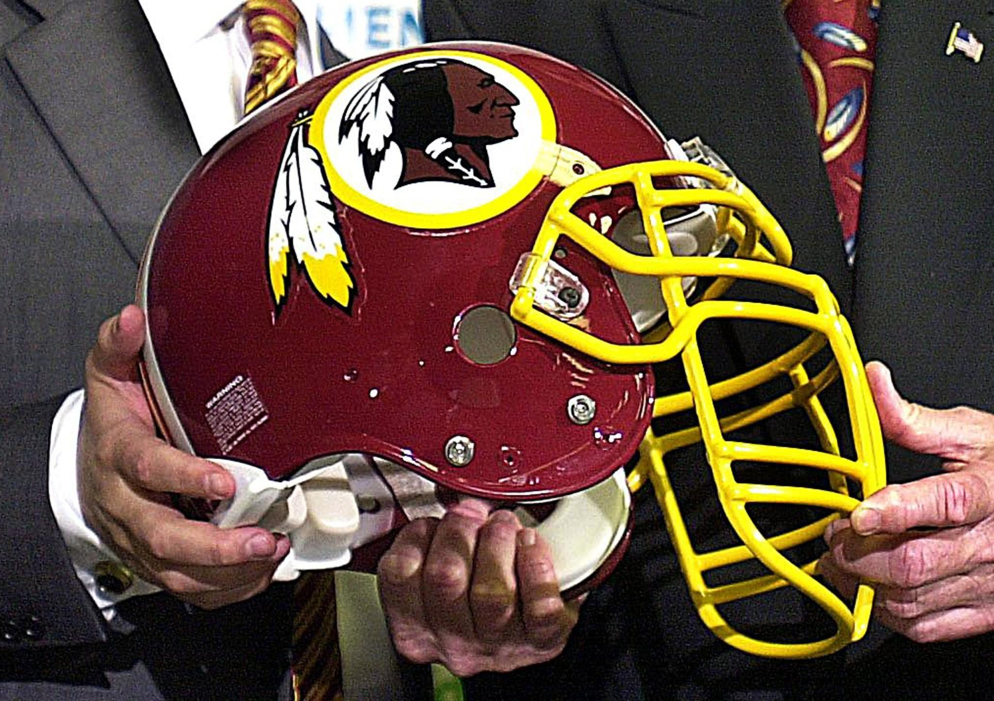 The Washington Redskins helmet.