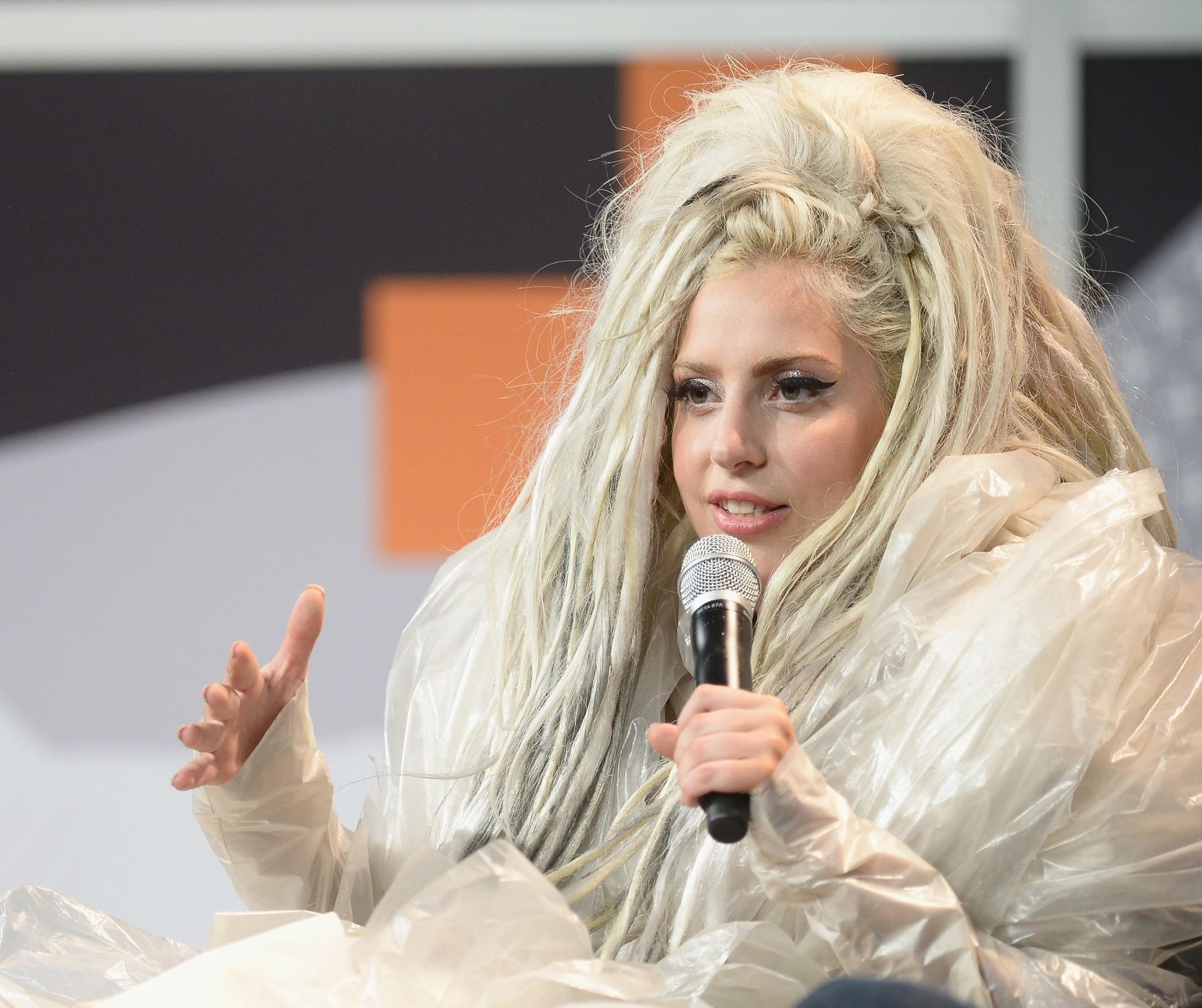 AUSTIN, TX - MARCH 14: Musician Lady Gaga speaks at the 2014 SXSW Music, Film   Interactive Festival at the Hilton on March 14, 2014 in Austin, Texas.