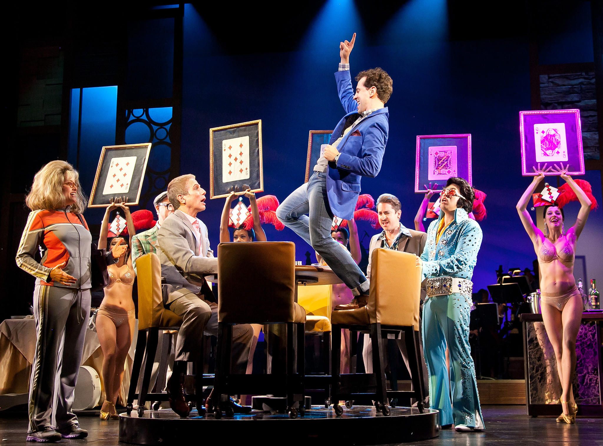 """Rob McClure lead the cast of """"Honeymoon in Vegas"""" at Paper Mill Playhouse in New Jersey."""