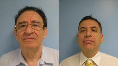 Mug shots of Goergy Betser (left) and Paul Dengelegi. Betser and Dengelegi were arrested for alleged Medicaid fraud.