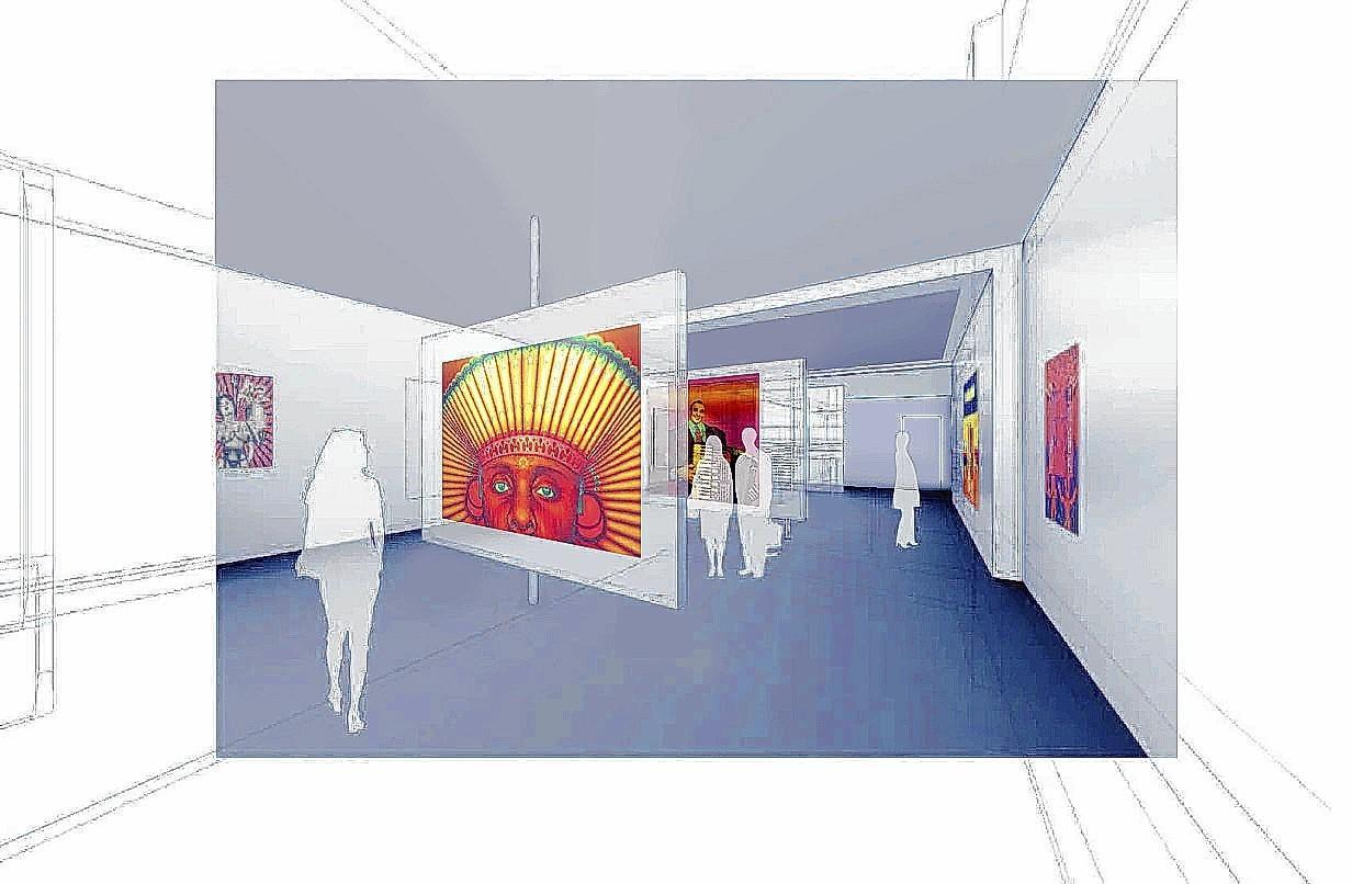 Illustration of the Ed Paschke Art Center in Chicago.