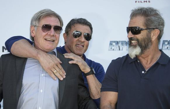 "Neither the chokehold by Sylvester Stallone nor the sight of Mel Gibson's beard could faze Harrison Ford, but while filming the latest ""Star Wars"" installment, the 71-year-old actor broke his left leg -- putting his participation in the anticipated film on hold."