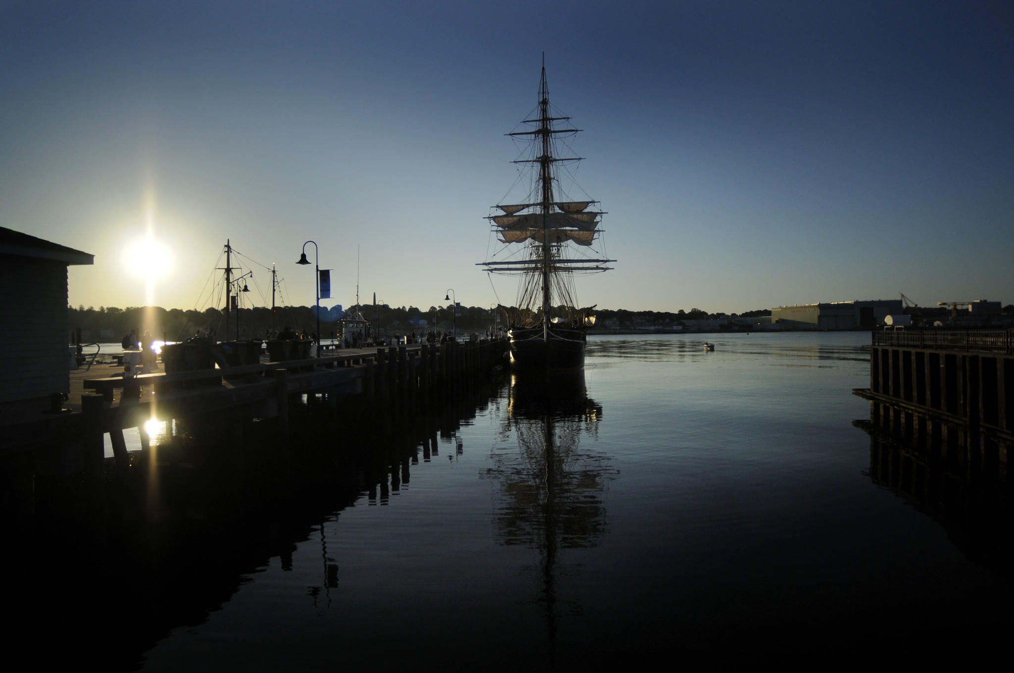 The Charles W. Morgan sits at the State Pier in New London at dawn on June 15, awaiting her new life as a restored sailing ship. A new state Port Authority could help revitalize New London harbor, one of the state's three deepwater ports.