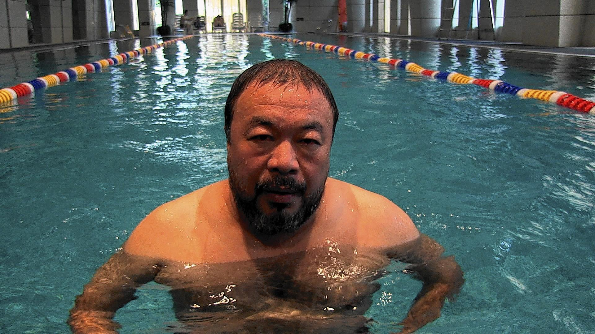 "Scene from the documentary ""Ai Weiwei: The Fake Case."""