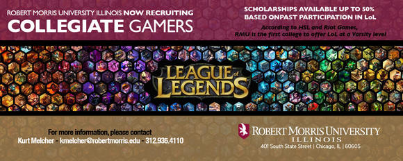 Robert Morris recruiting eGamers