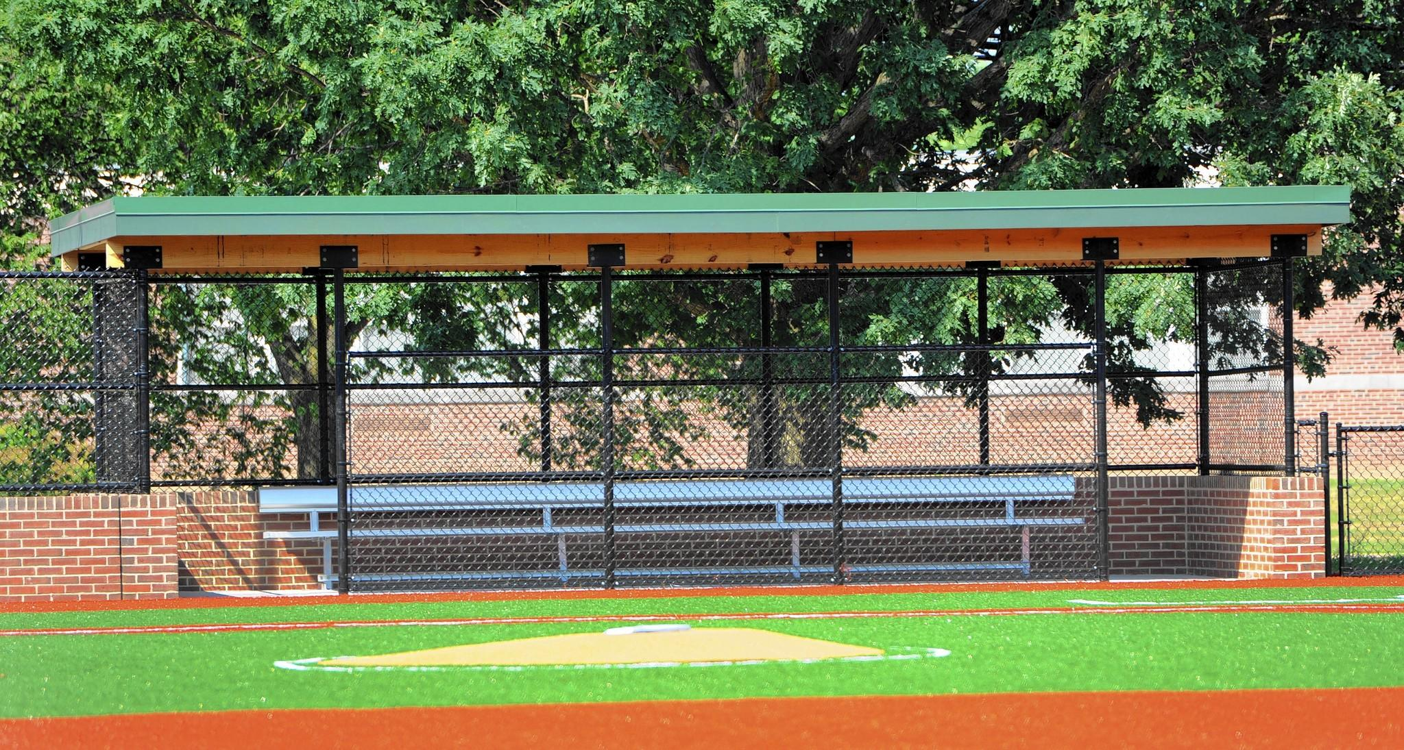 Vi Ripken Field, a new turf baseball field just across the street from Hall's Cross Roads Elementary and the Boys and Girls Club in Aberdeen, is nearly complete.