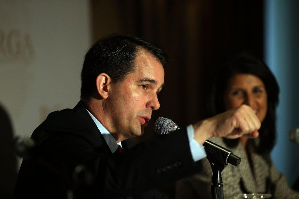 Wisconsin Gov. Scott Walker at the Republican Governors Association meeting in New York City last month.