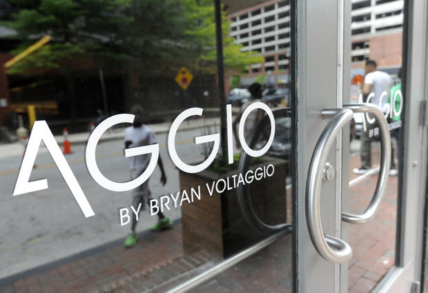 Located on Water Street, at the Power Plant Live entertainment district, Aggio is from Bryan Voltaggio, whose other restaurants include his flagship Volt and Family Meal, both of which are in his hometown of Frederick, and Range and Aggio, which are in Washington's Chevy Chase Pavilion.