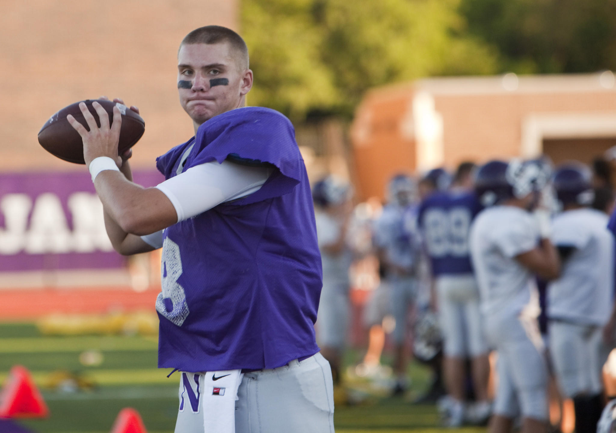 Downers Grove North quarterback David Edwards during a 2013 scrimmage.