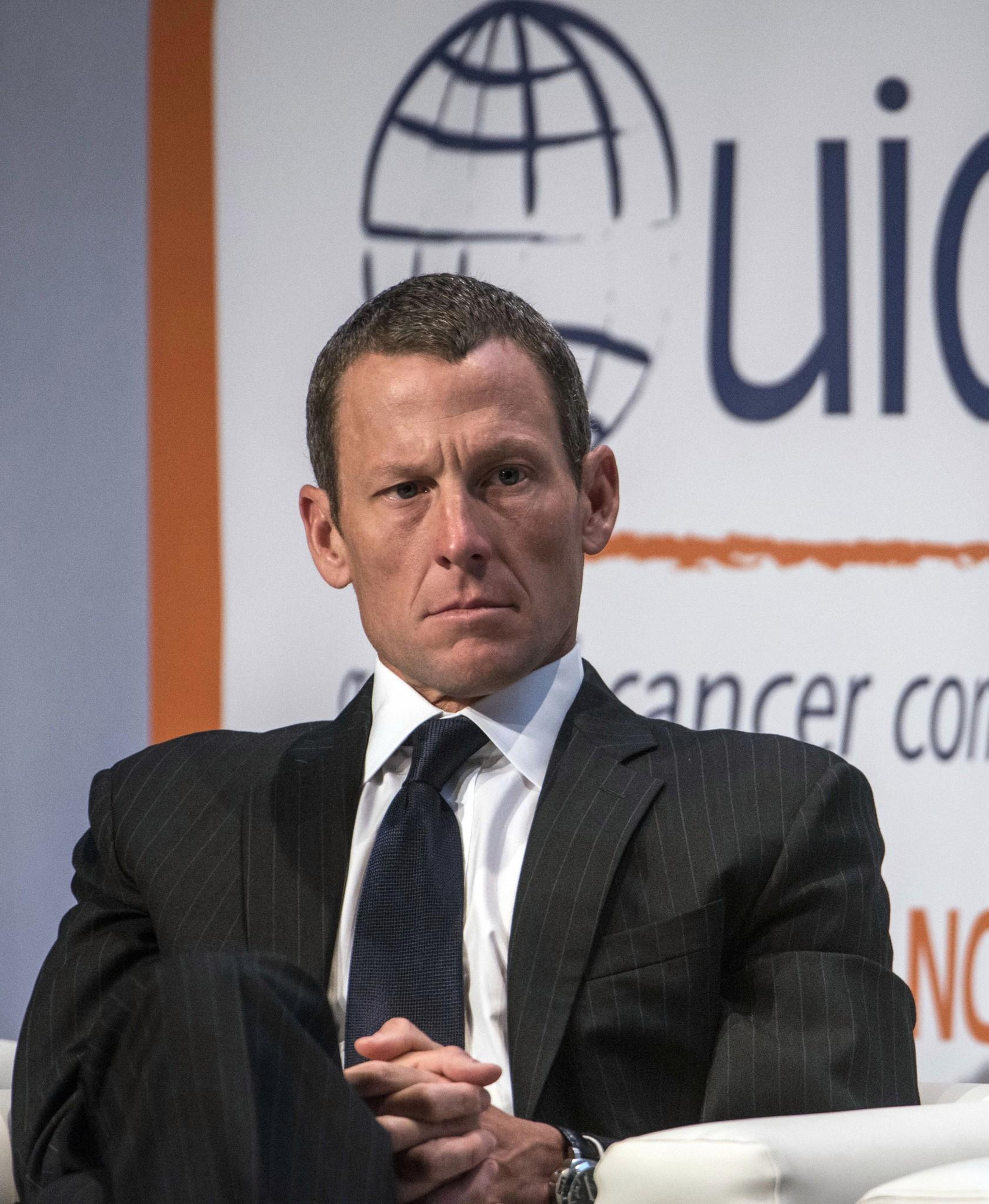 Lance Armstrong, chairman and founder at LIVESTRONG, speaks about Survivorship: changing the way the world fights cancer, during the World Cancer Congress, held August 29 2012 in Montreal, Quebec.