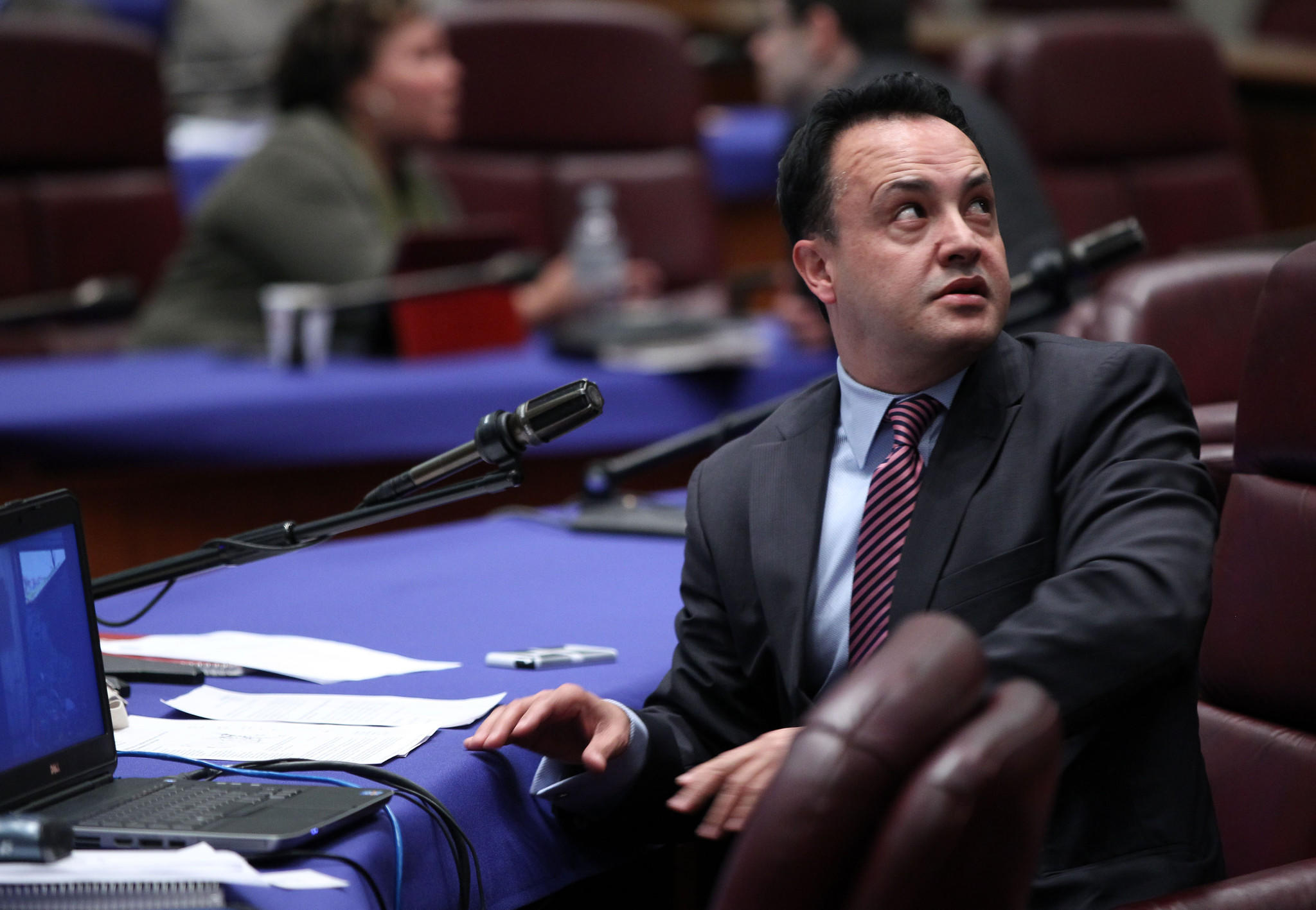 Chicago Ald. George Cardenas, 12th, chairs a meeting of the Health and Environmental Protection Committee of the Chicago City Council on Thursday, April 24, 2014.