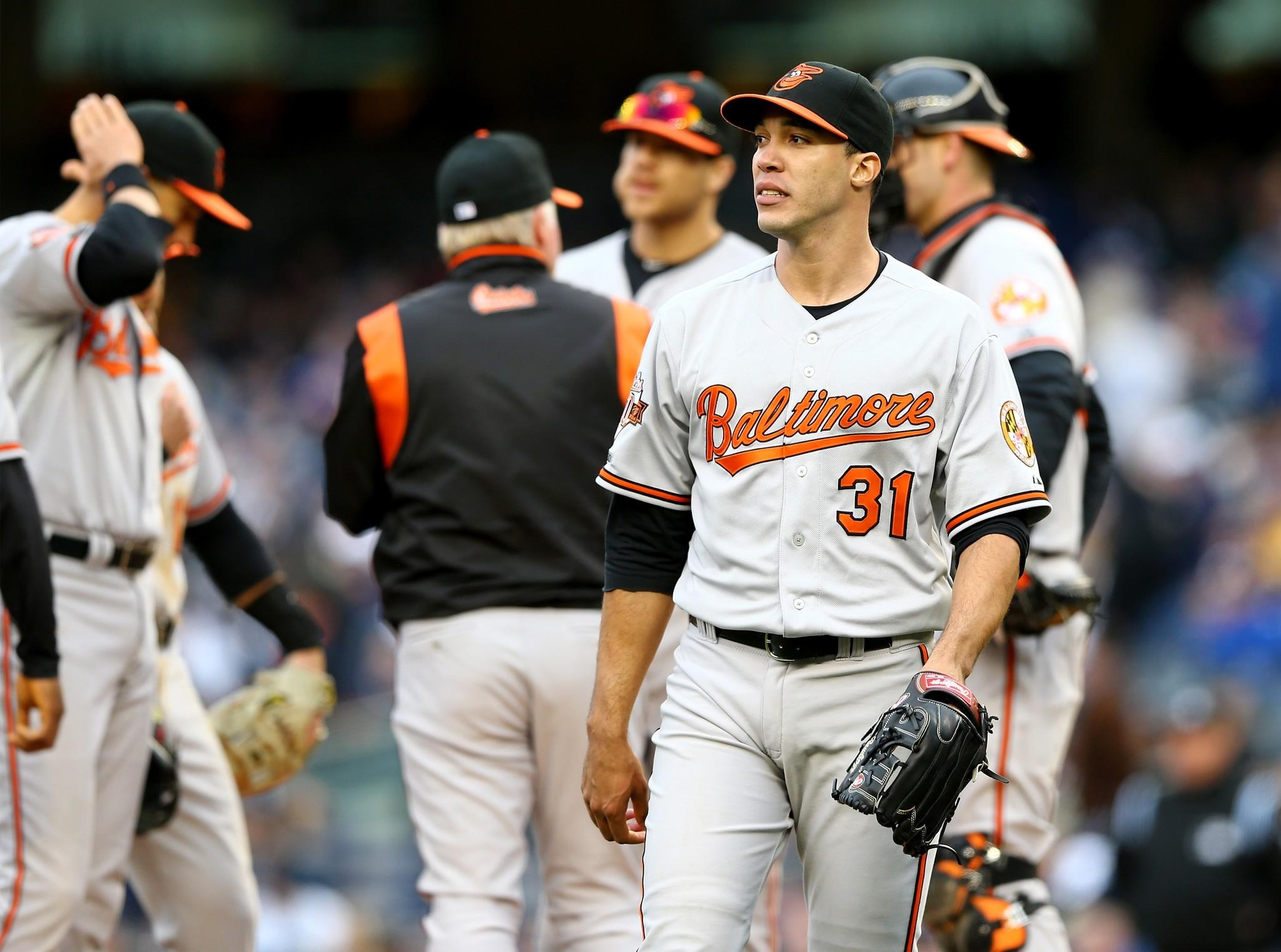 Ubaldo Jimenez didn't get out of the fifth inning in a loss to the Yankees on April 7.