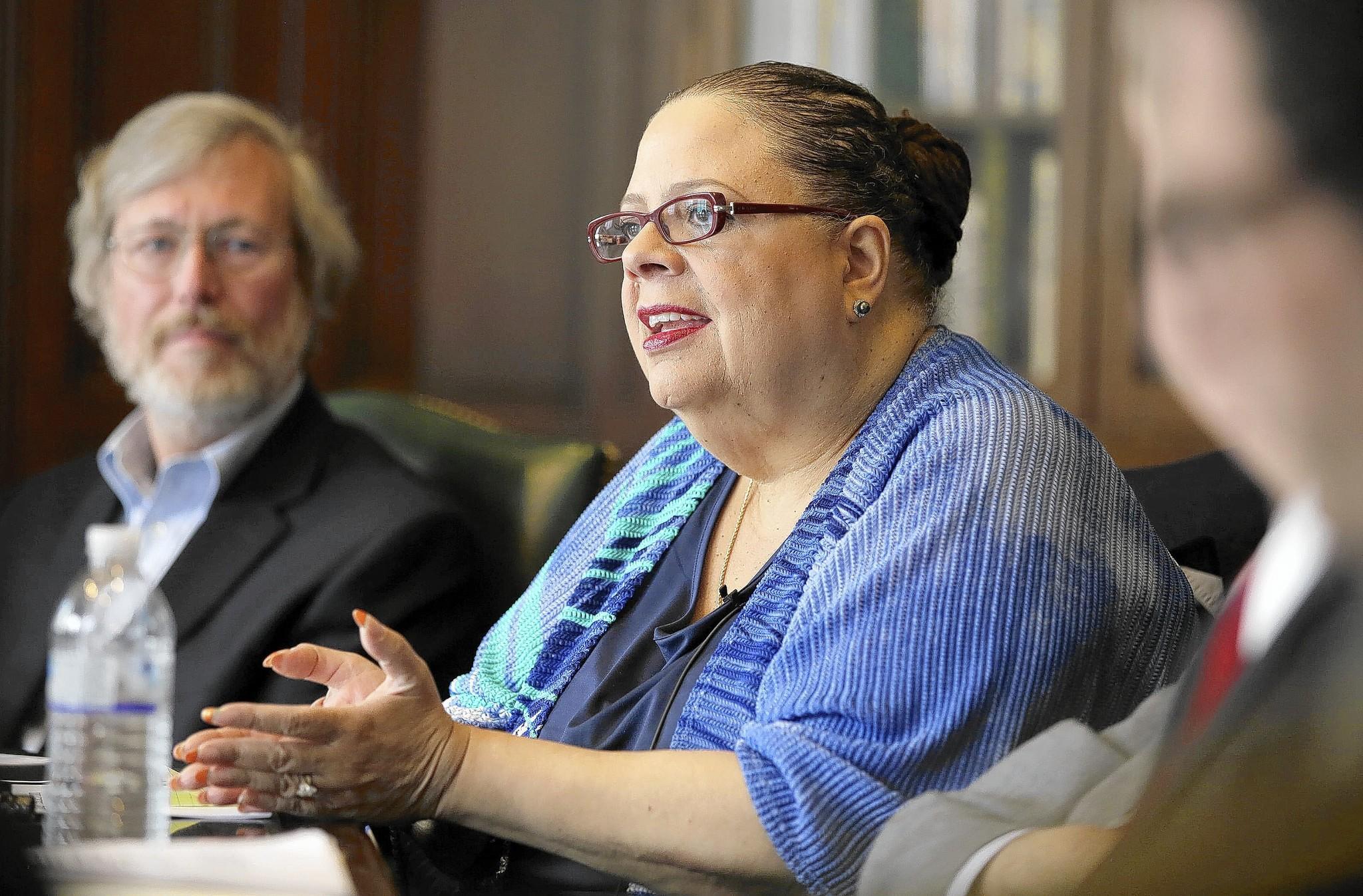 Chicago Teachers Union President Karen Lewis talks with the Chicago Tribune's Editorial Board.