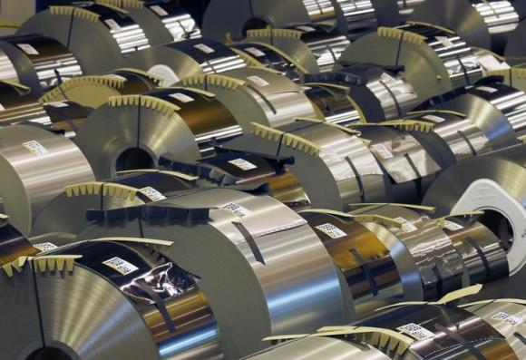 Steel coils at an ArcelorMittal plant.