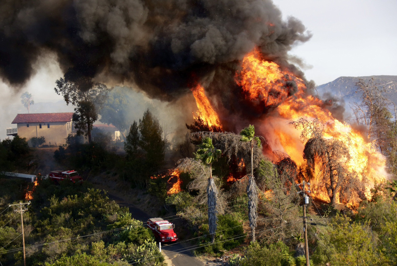 Fire In San Diego Today >> San Diego County brush fires - LA Times