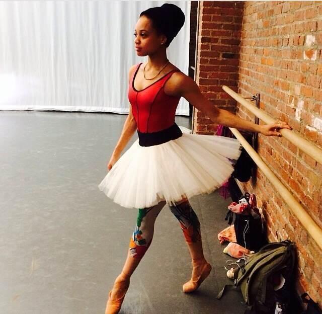 """""""Funky ballerina"""" Amir Sanders."""