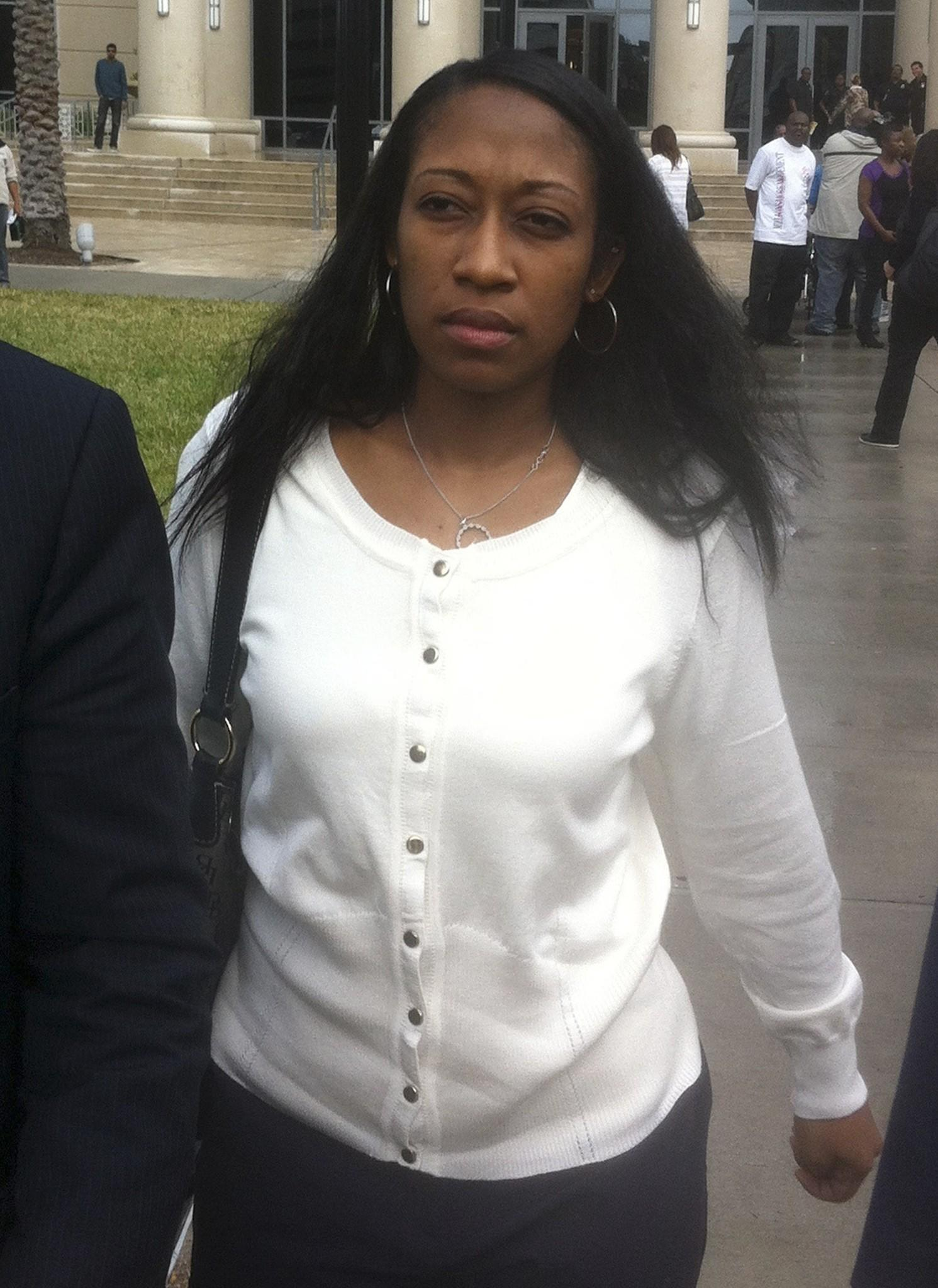 Marissa Alexander, 33, leaves after a court appearance in Jacksonville, Florida on Jan. 10.