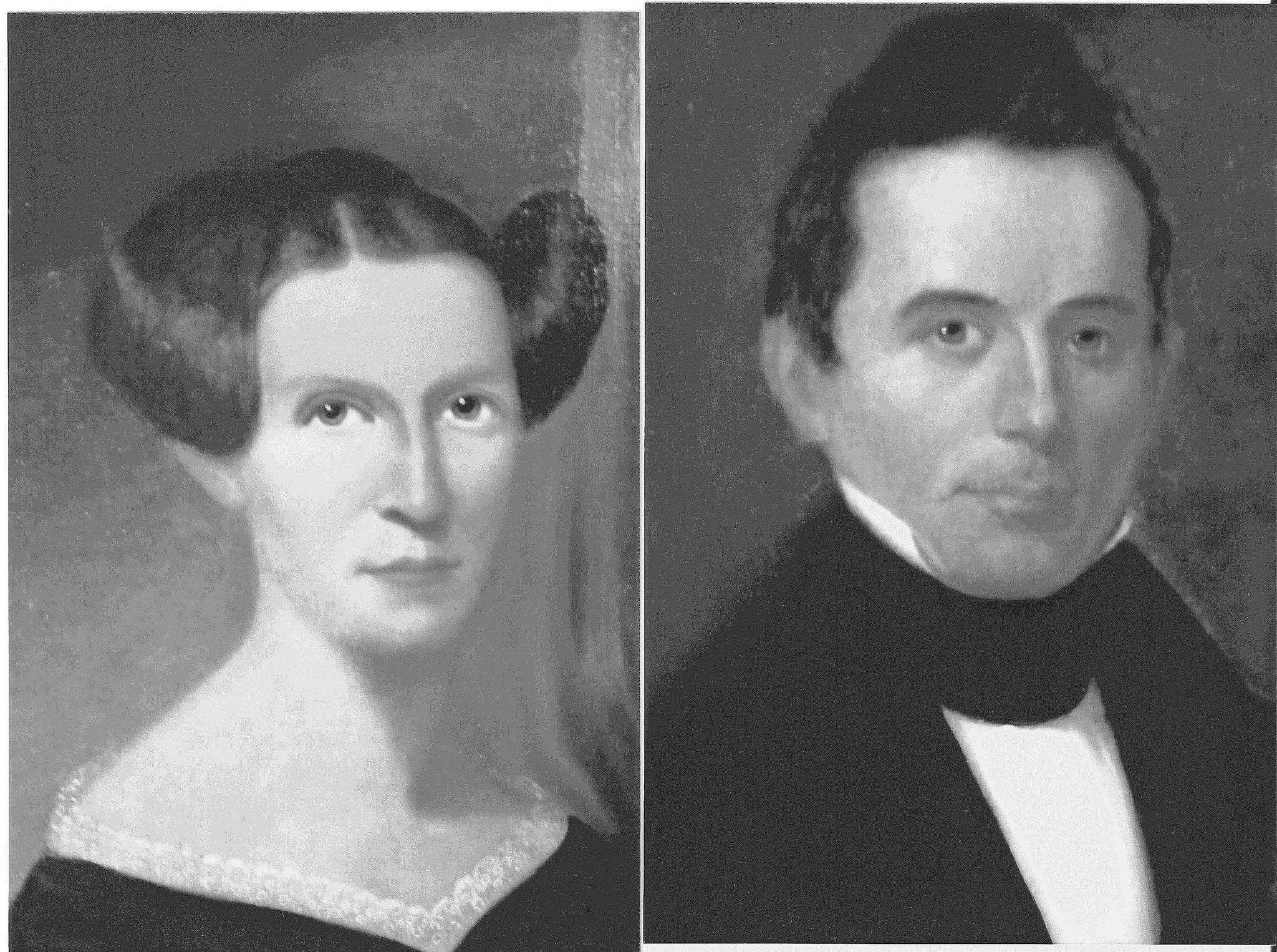 These portraits of Elias Boudinot (ca. 1801-39) , a student at the Foreign Mission School (1818-22), and his wife, Harriet Ruggles Gold (1805-36), were painted by an unidentified artist, probably in the mid-1820s.