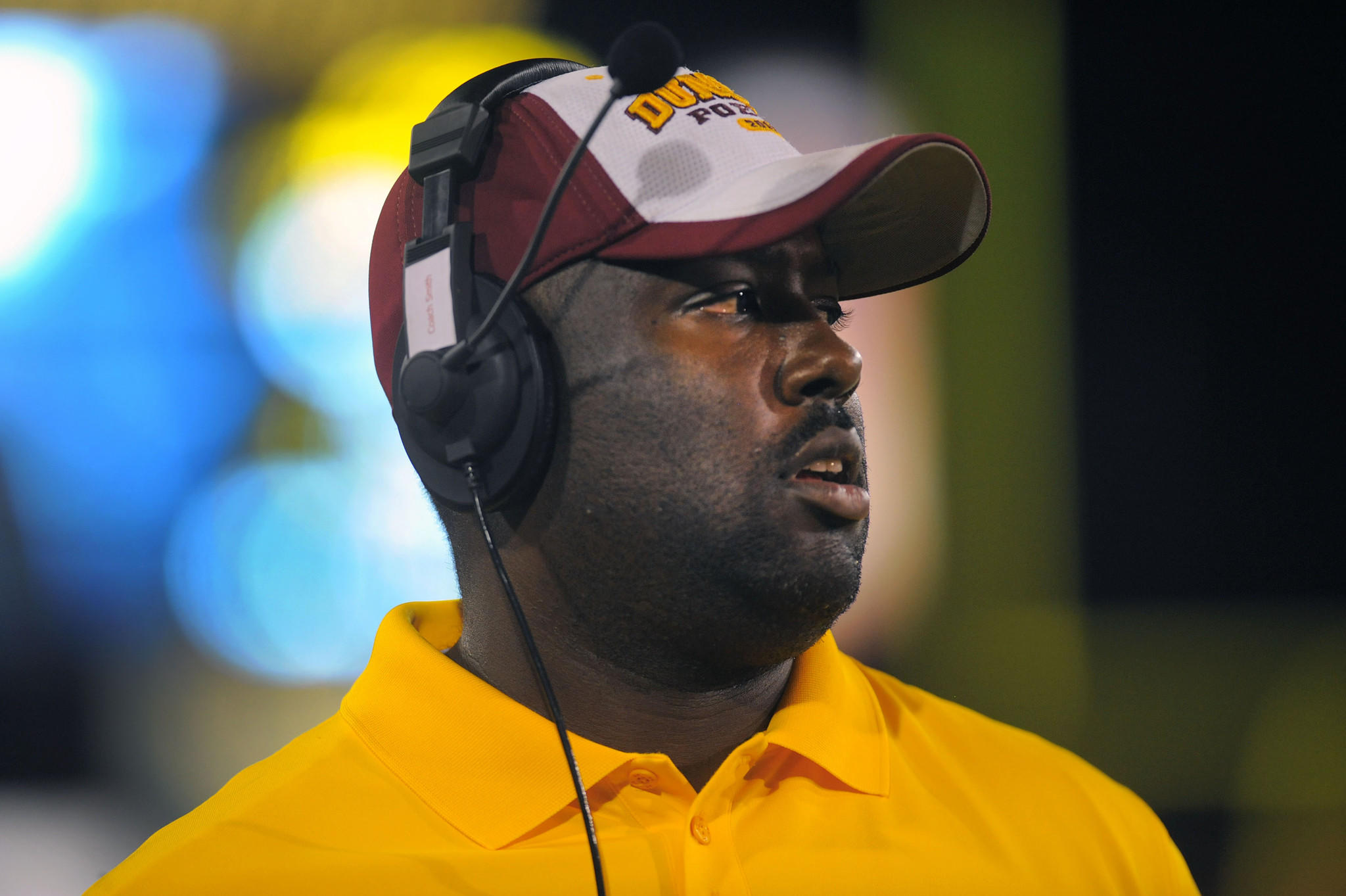 Dunbar head football coach Lawrence Smith.