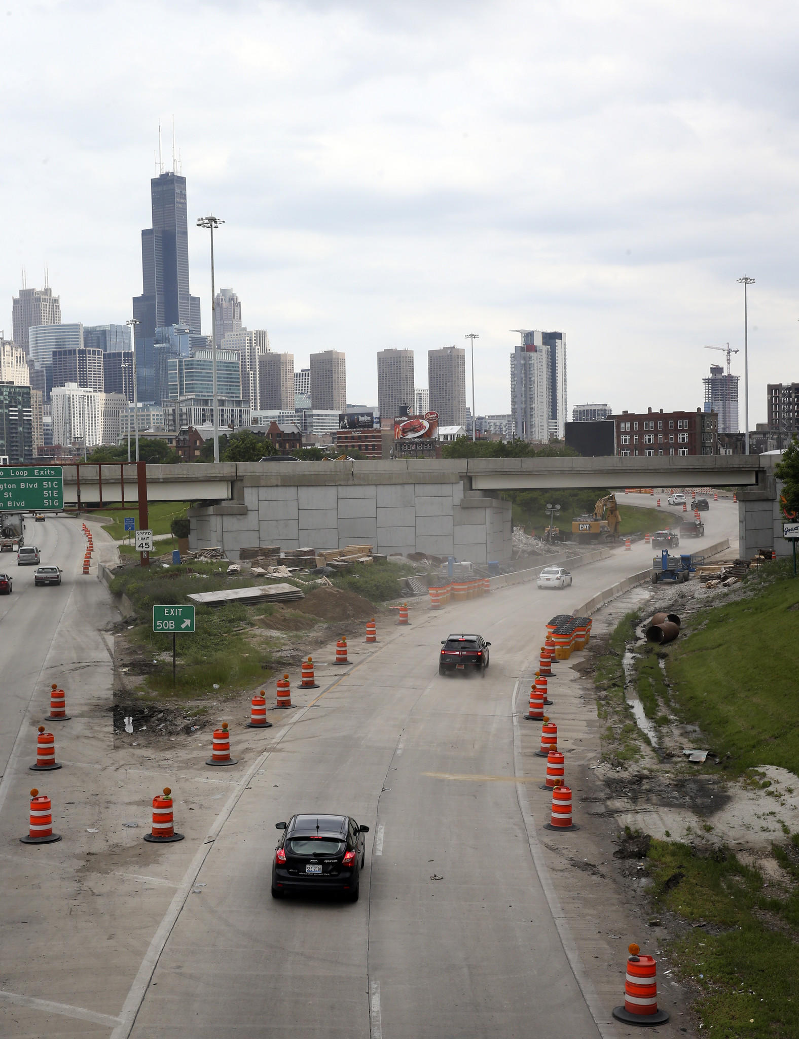 The inbound Ohio St. exit of the Kennedy Expressway, reopens to traffic last Sunday, June 15, 2014.