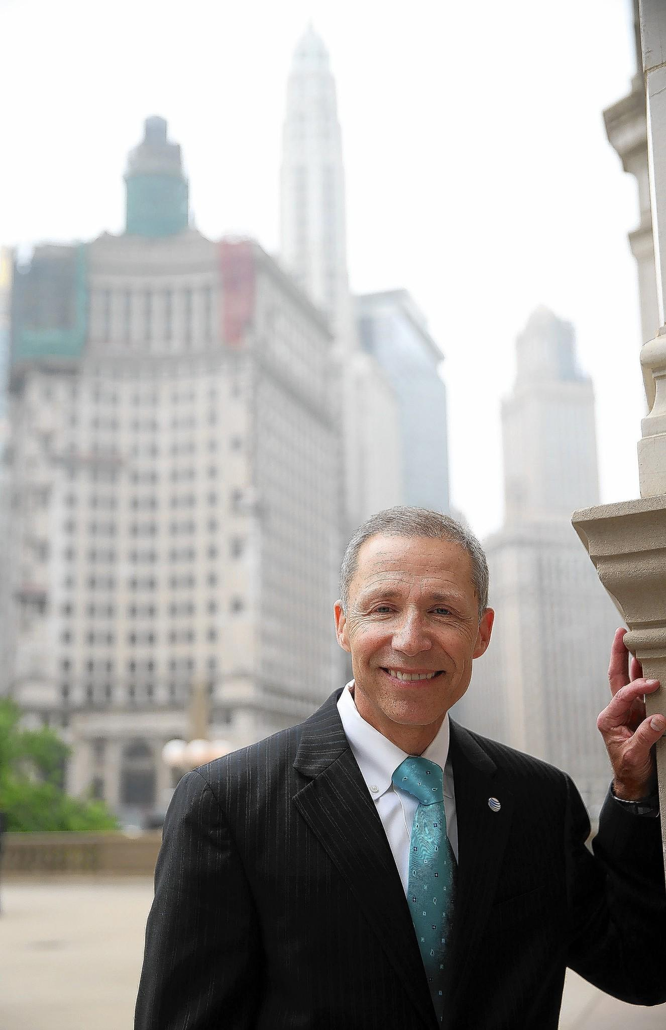 Paul La Schiazza has worked for AT&T for 35 years. He has been a member of the Chicagoland Chamber of Commerce board since 2007 and its vice chairman for two years.