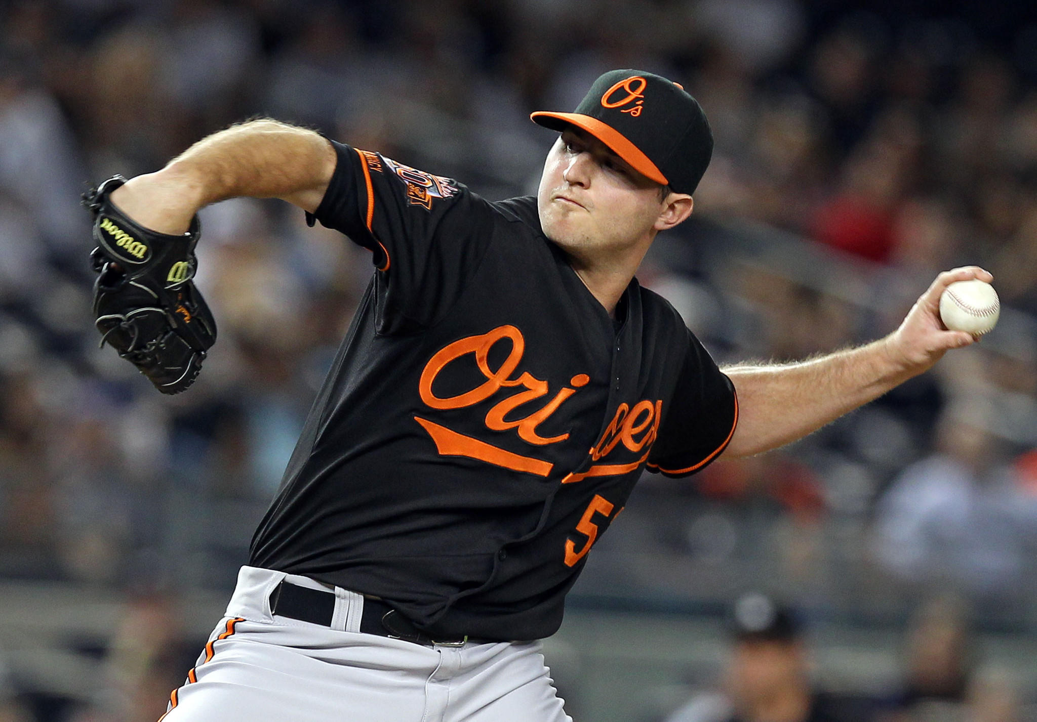 Zach Britton had only his second blown save of the season Friday night at Yankee Stadium.